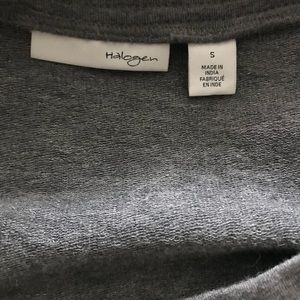Halogen Tops - Halogen Black Leather/Grey Top Size Small